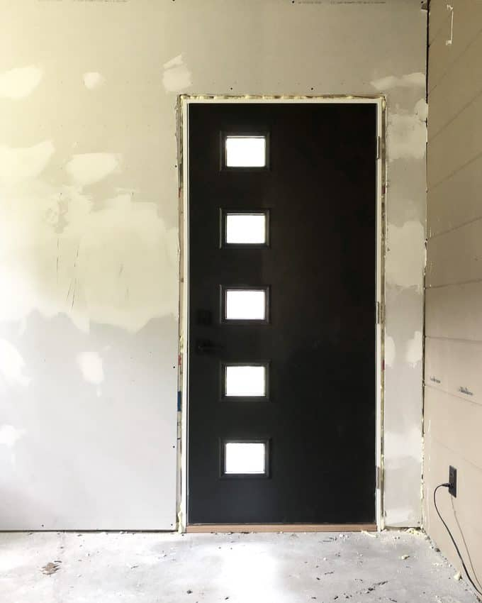 Modern Door Painted Black