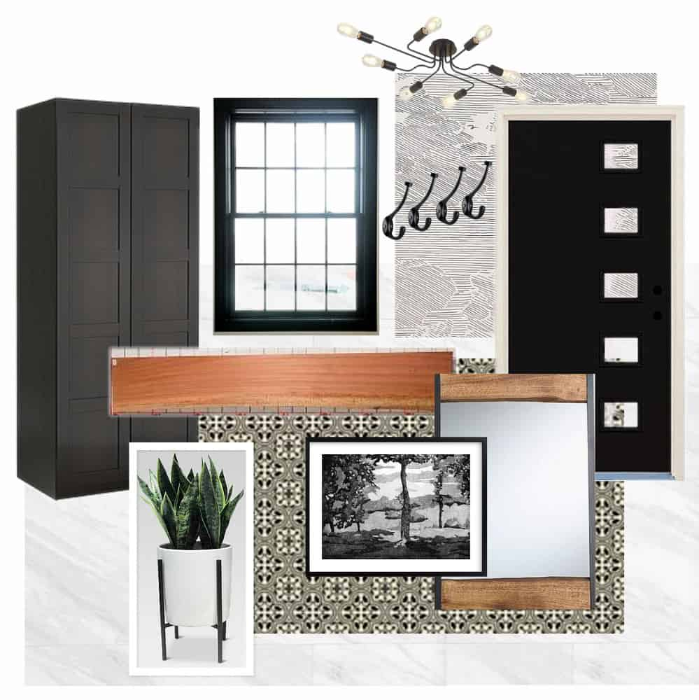 Modern Mudroom Moodboard