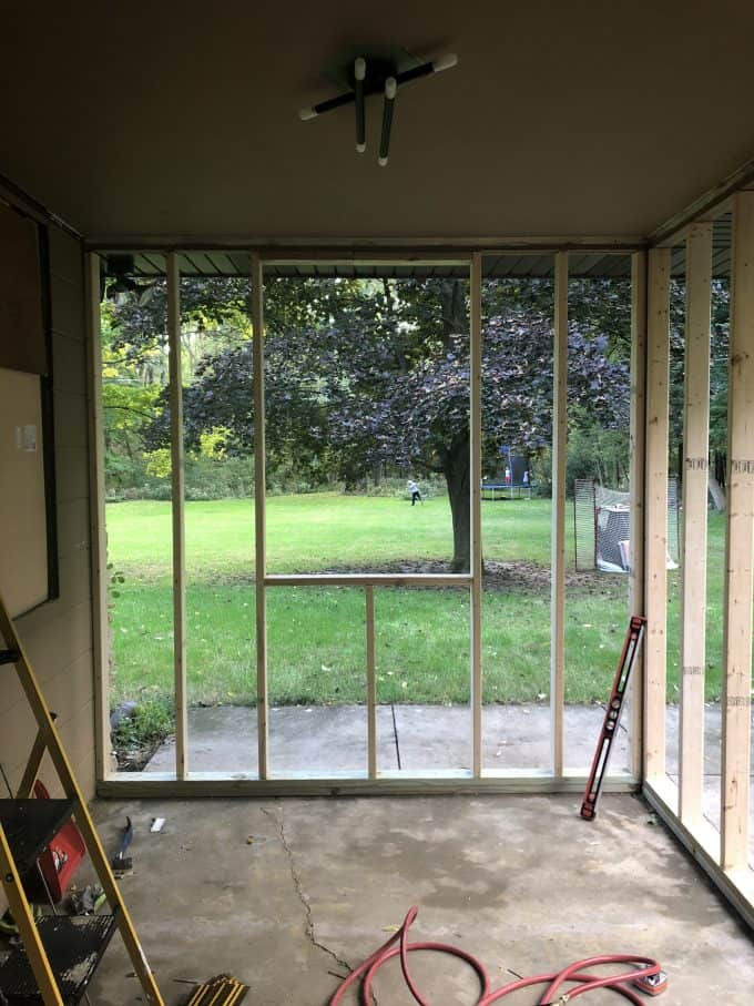 How To Turn A Screen Porch Into A Mudroom Bright Green Door