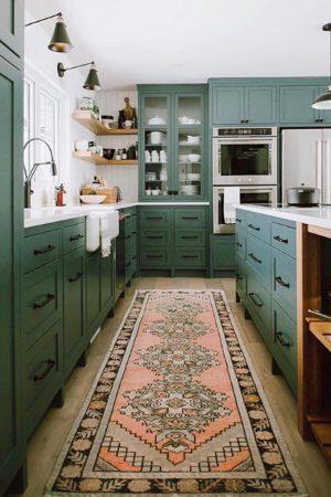 Kitchen with Vintage Rug