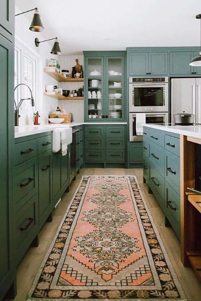 Kitchen with Vintage Rug