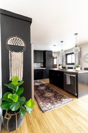 Vintage Rug in Kitchen