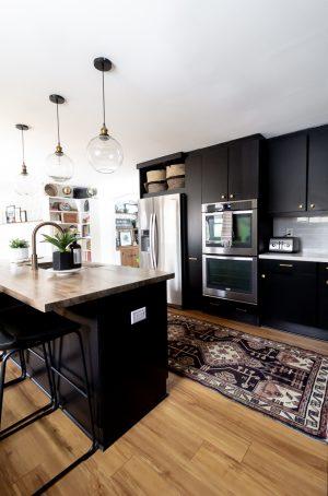 Kitchen with Vintage Runner