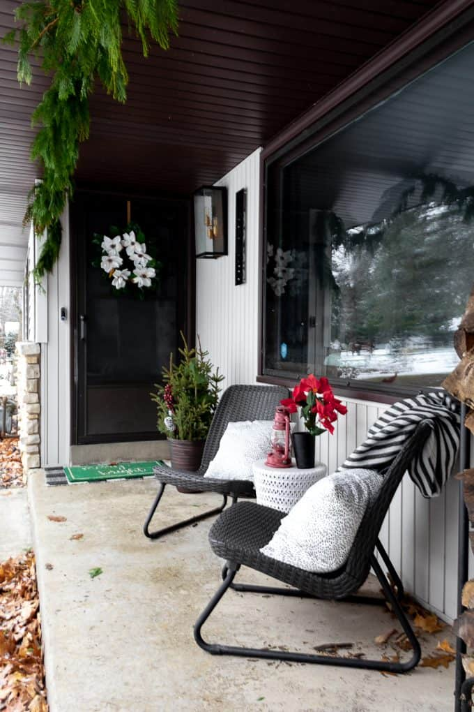 Modern Christmas Front Porch