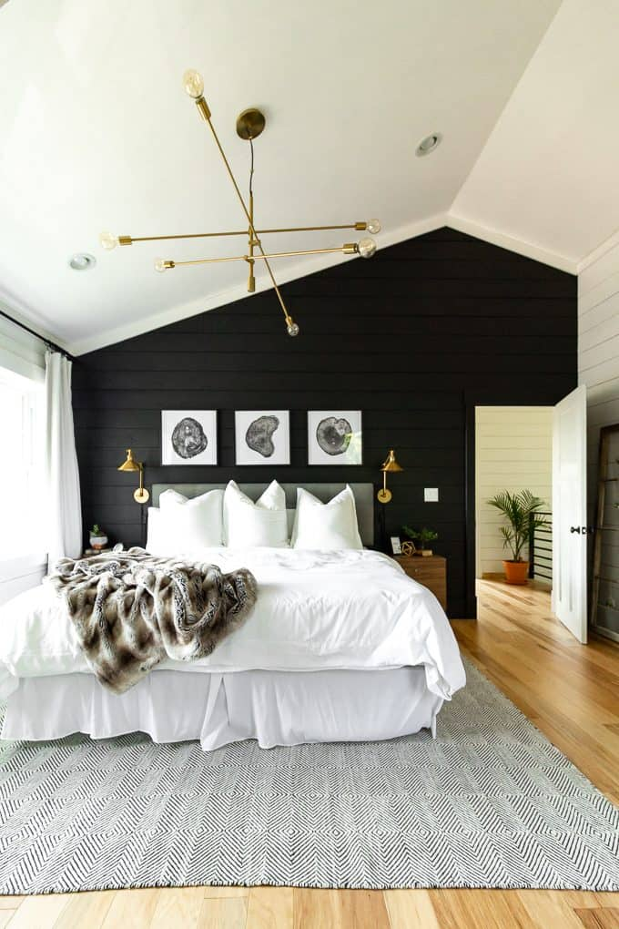 Black Shiplap Bedroom
