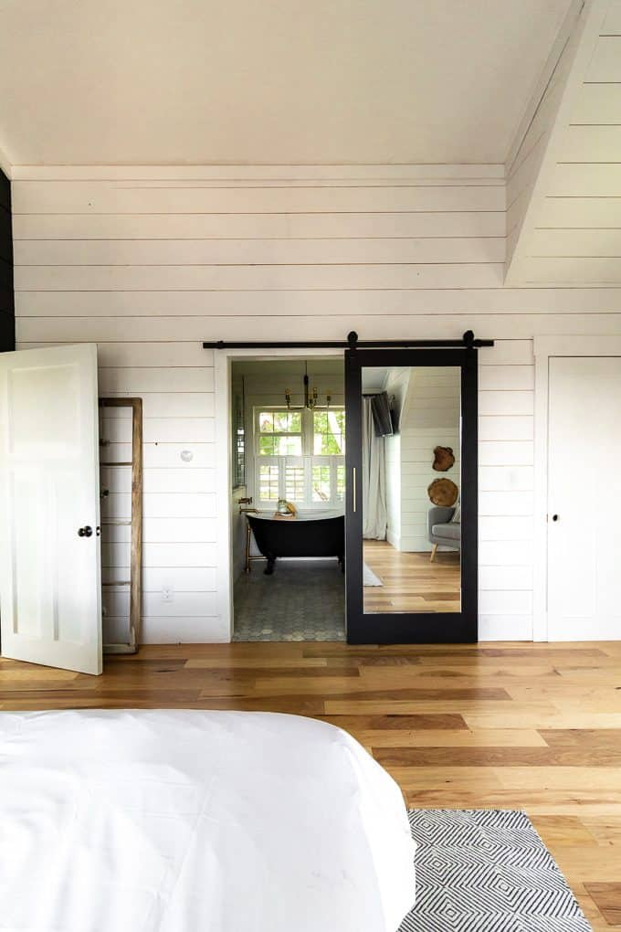Sliding Barn Door with Mirror