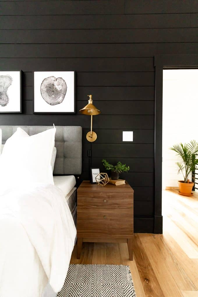 Bedroom with Black Walls