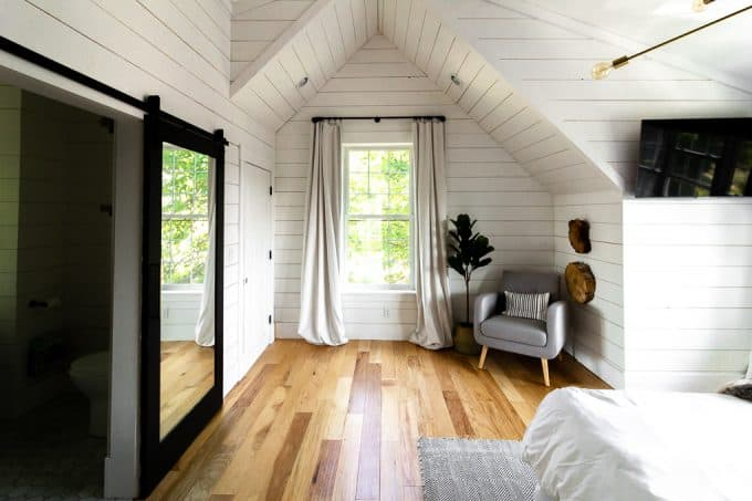 Master Bedroom with White Shiplap
