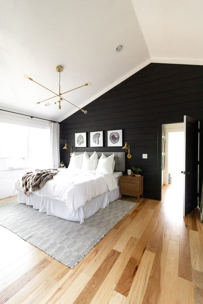 lovely black white modern bedroom | Black and White Modern Master Bedroom - Bright Green Door