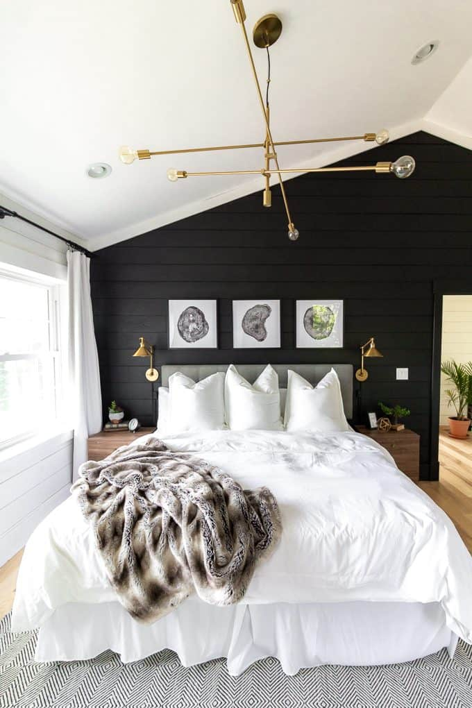White Bedding in Master Bedroom