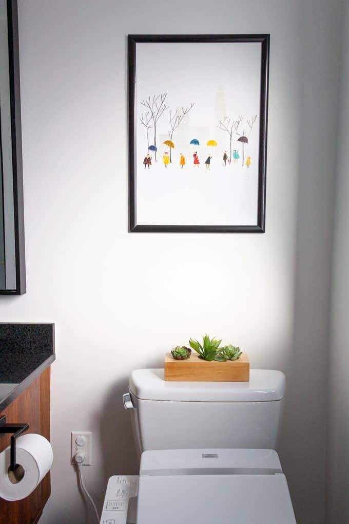 Modern Art in Bathroom