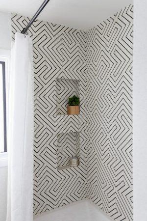 Geometric Tile in Bathroom
