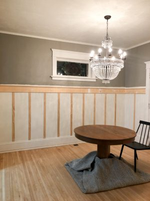 Dining Room with Faux Board and Batten