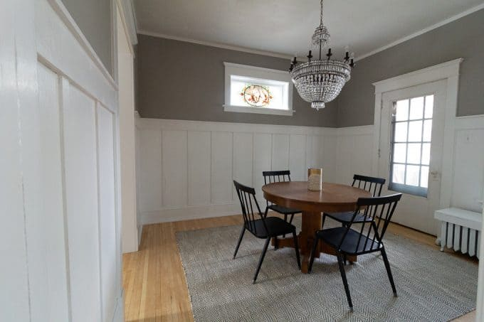 Modern Victorian Dining Room with Board and Batten