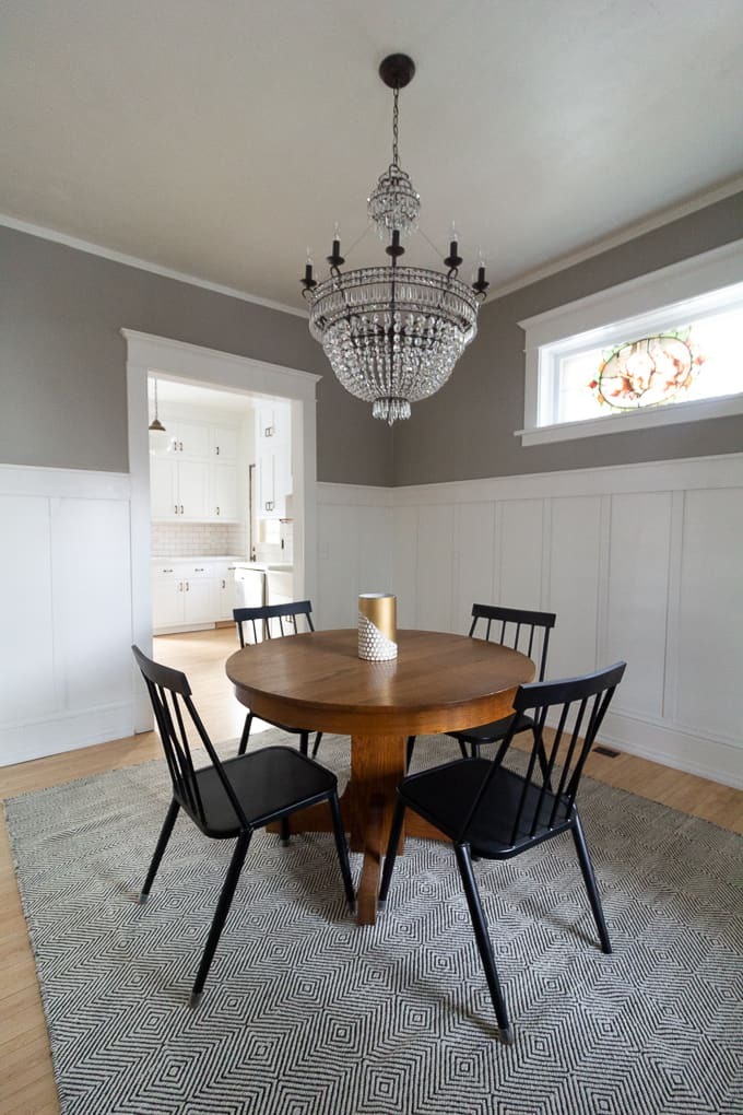 Diy Board And Batten Dining Room Bright Green Door