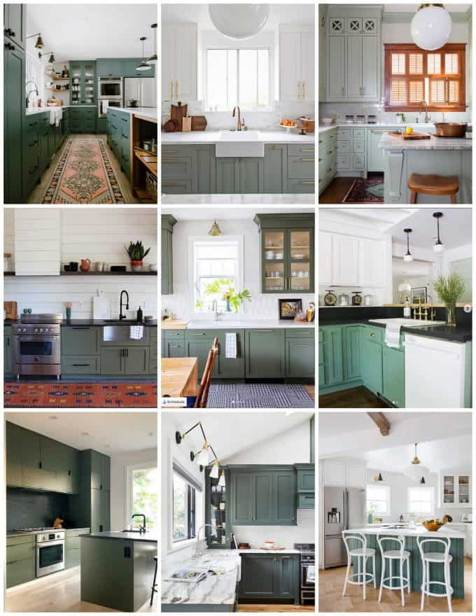 Moody Green Kitchen Cabinet Paint Colors - Bright Green Door