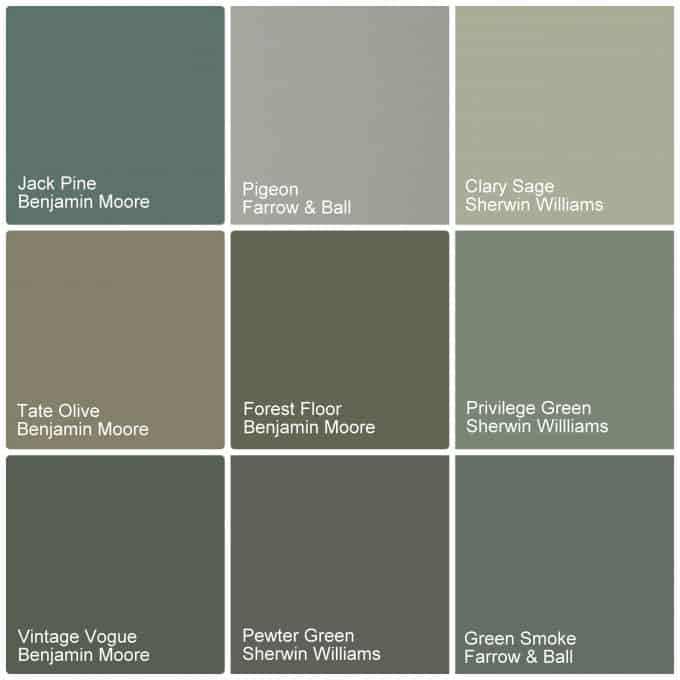 Green Cabinet Paint COlors