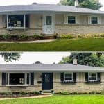 Affordable Curb Appeal before and after