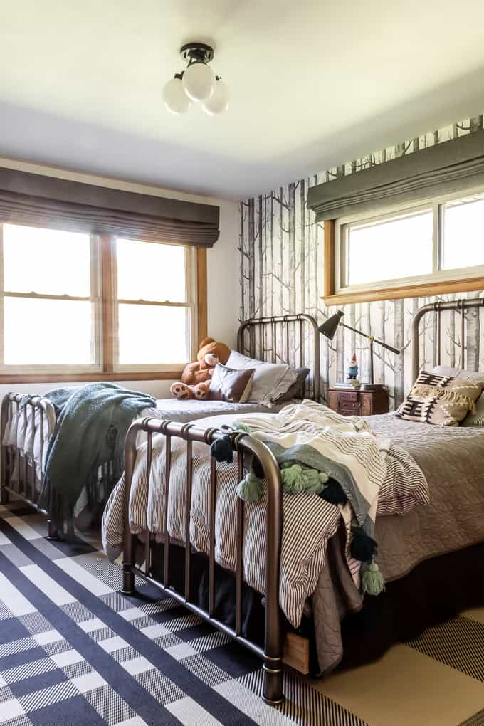 Boys Bedroom with Two Twin Beds