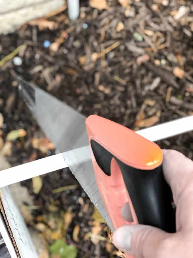 Cutting PVC Trim with Hand Saw