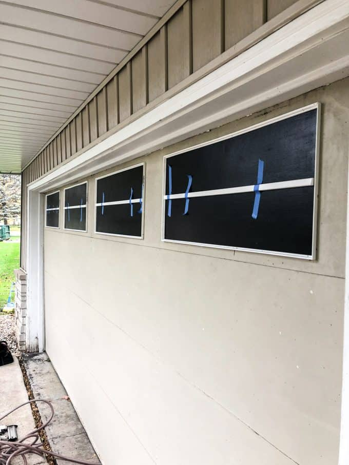 Installing Trim on Faux Garage Windows