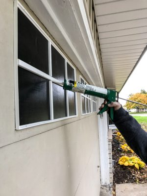 Caulking PVC Trim