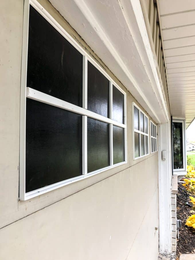 Faux Windows on Garage Door