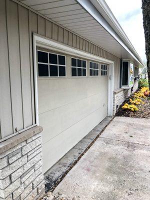 Garage Door with Faux Windows