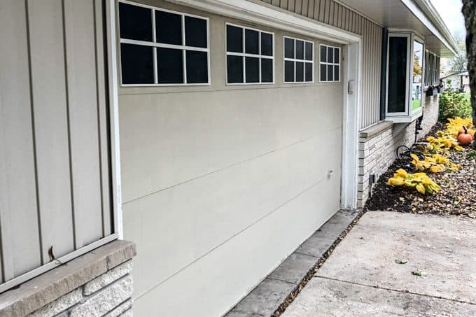 Garage Door with Faux Windows