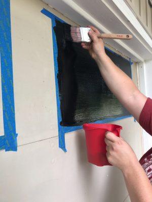 Painting Faux Garage Windows