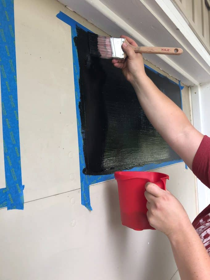 Painting Faux Garage Windows