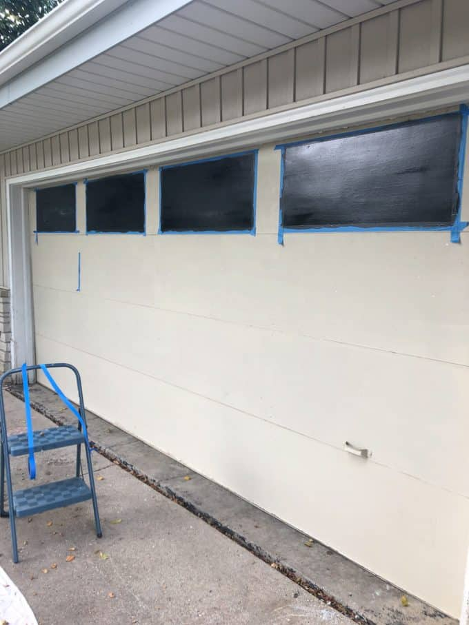 Faux Painted Garage Windows
