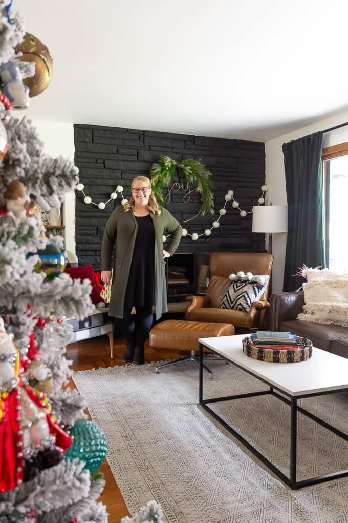 Jess McGurn from Bright Green Door Scandinavian Modern Christmas Home Tour
