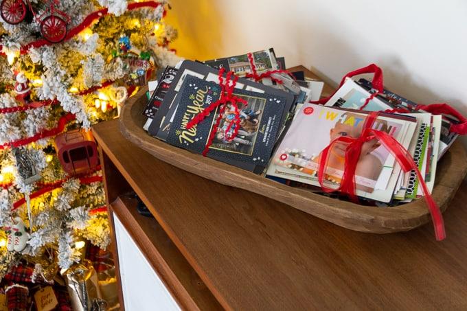 Displaying Christmas Cards in Bundles