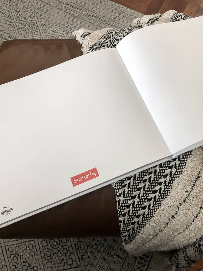Shutterfly Logo in Photo Book