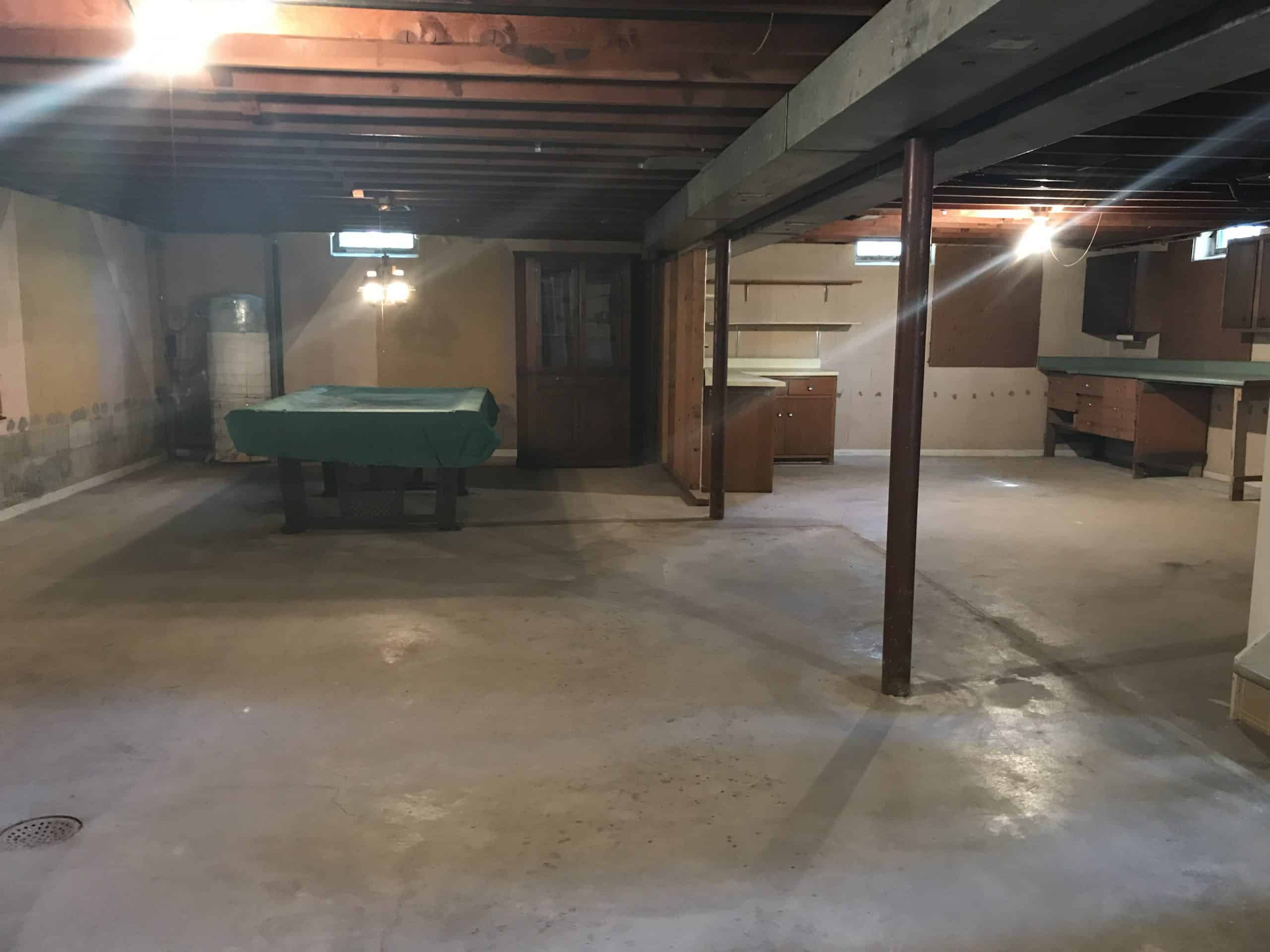 Unfinished Basement Before