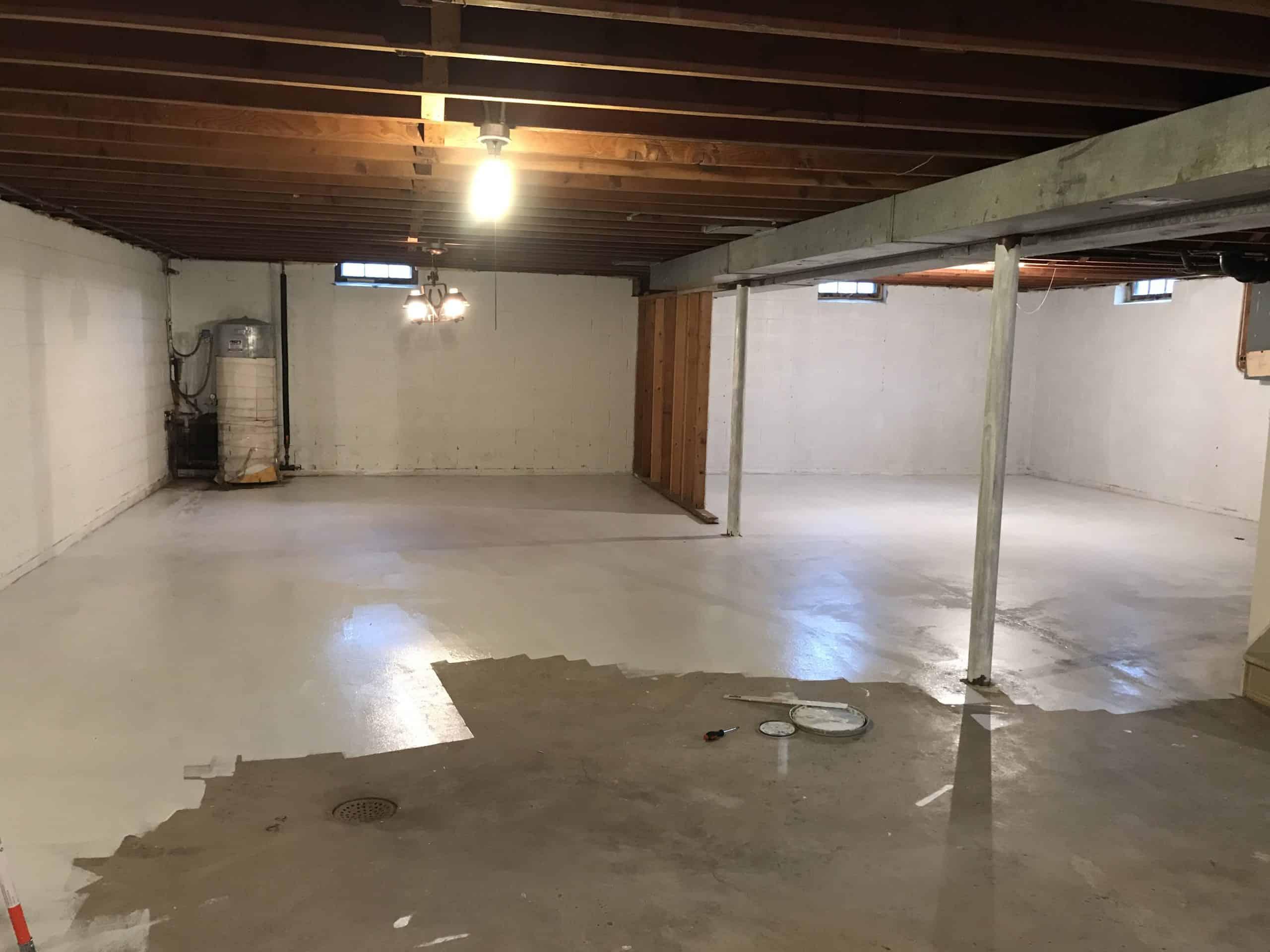 Unfinished Basement Rec Room