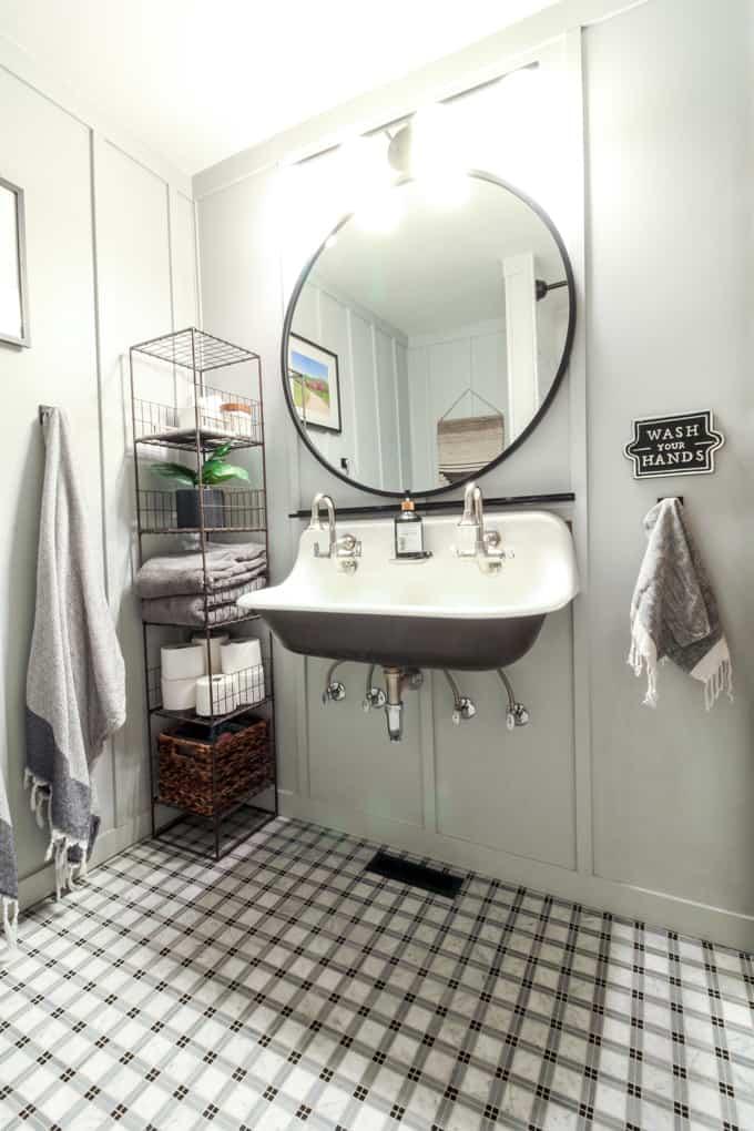 Kohler Brockway Farmhouse Sink in Bathroom
