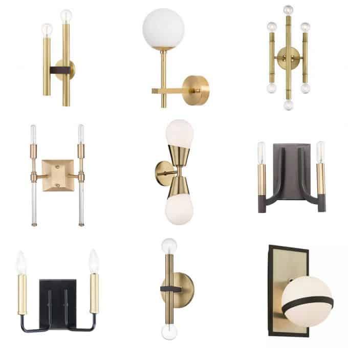 Brass Sconce Lights