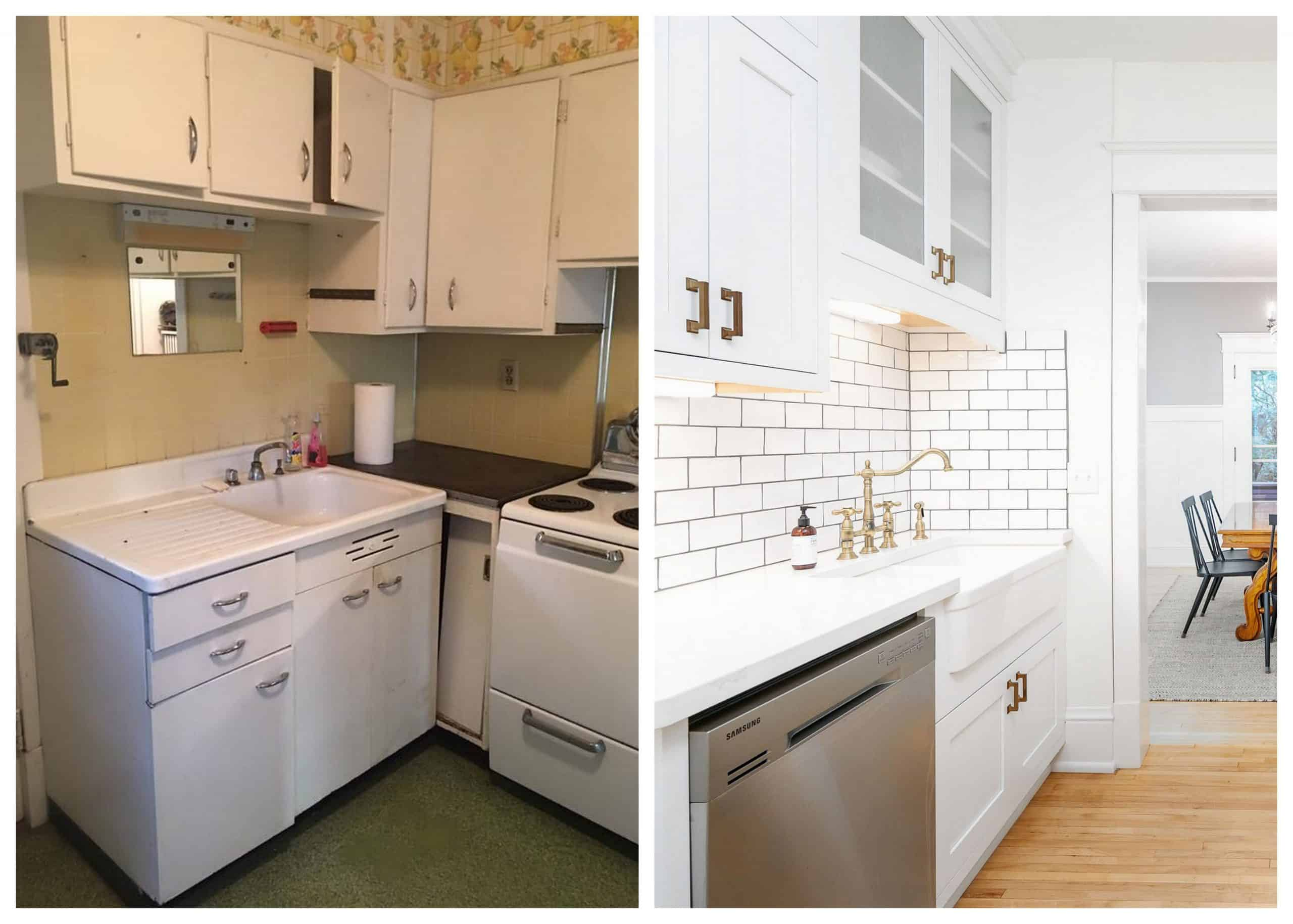 Old Home Kitchen Before and After