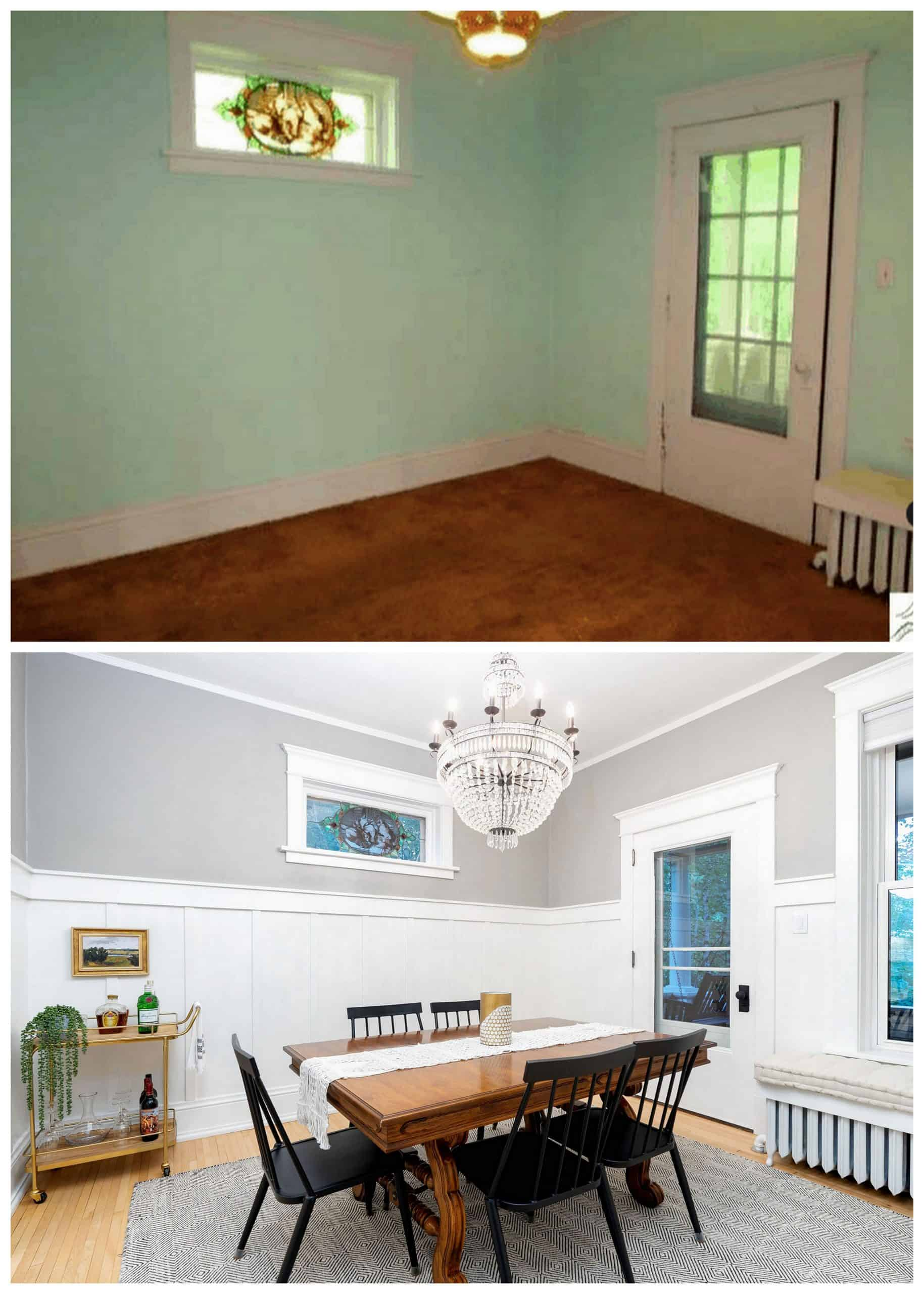 Old Home Dining Room Before and After