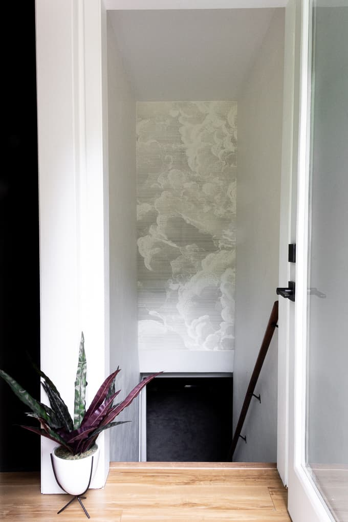Installing Wallpaper over a Stairwell